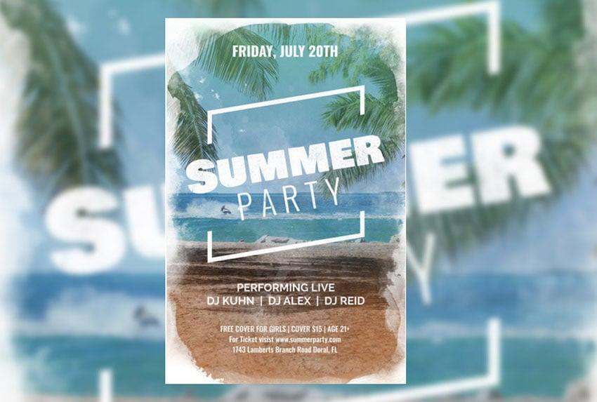 Summer Party Flyer Maker