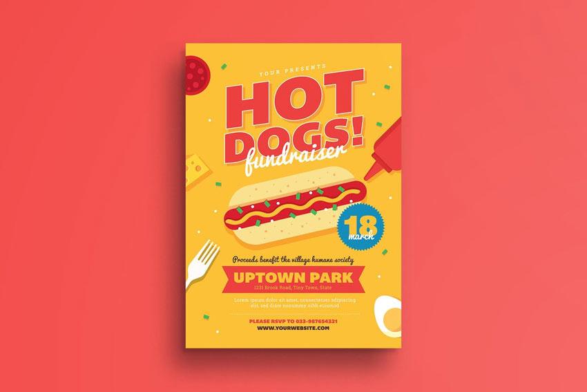 Hot Dog Fundraiser Flyer
