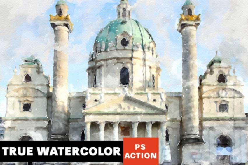 True Watercolor Photoshop Action