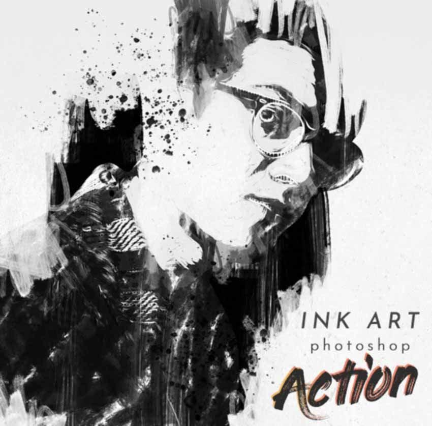 Ink Art Photoshop Action