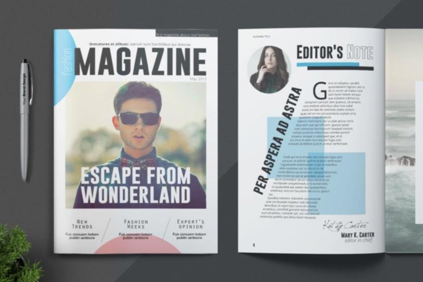 Stylish Magazine Template