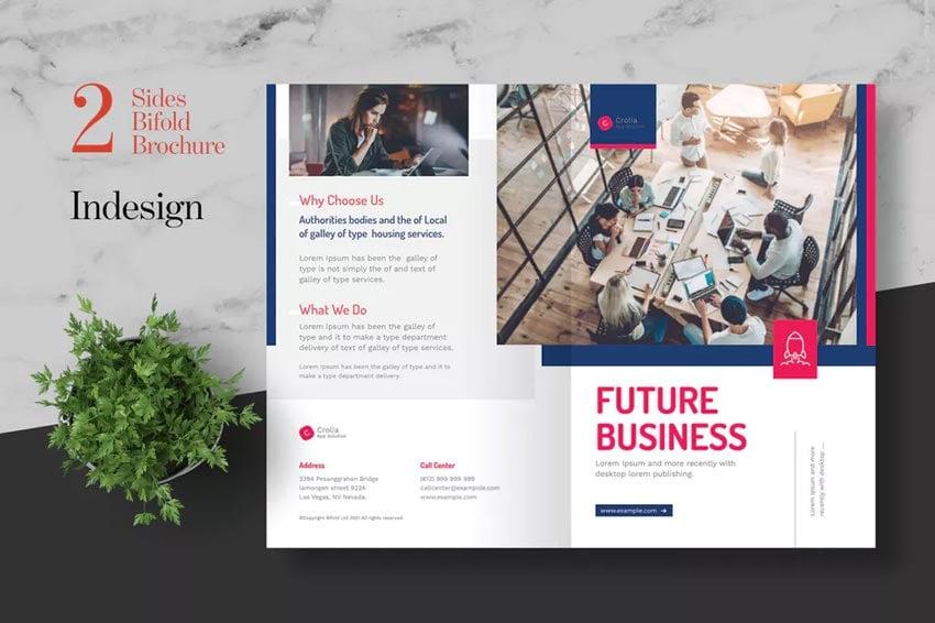 Clean Startup Bifold Brochure