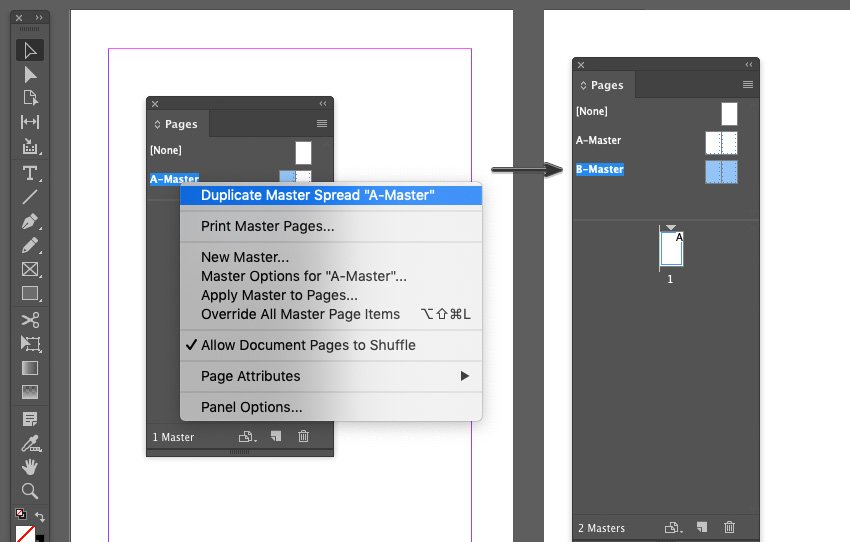Creating a Duplicate Master Page