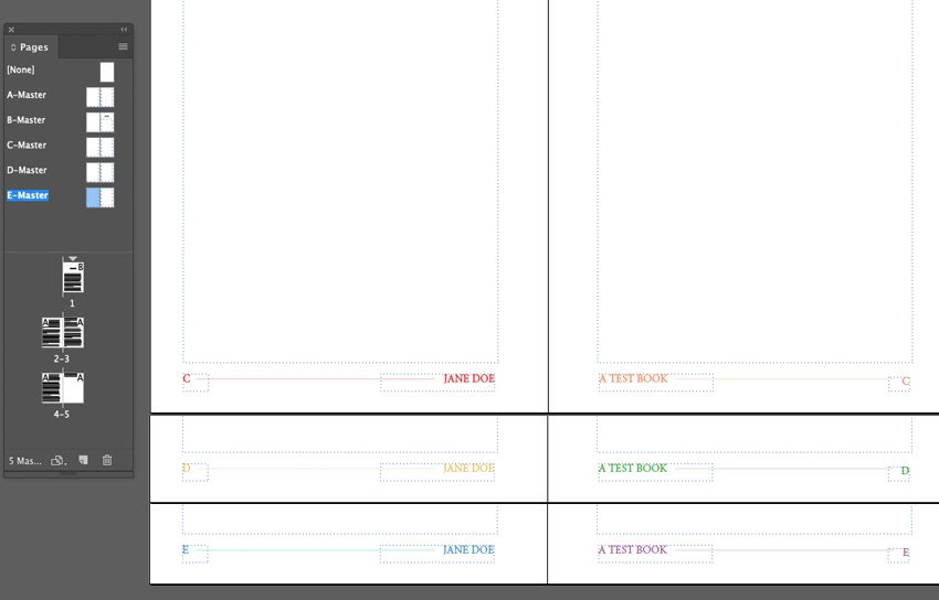 Example of Rainbow Footer Transitions