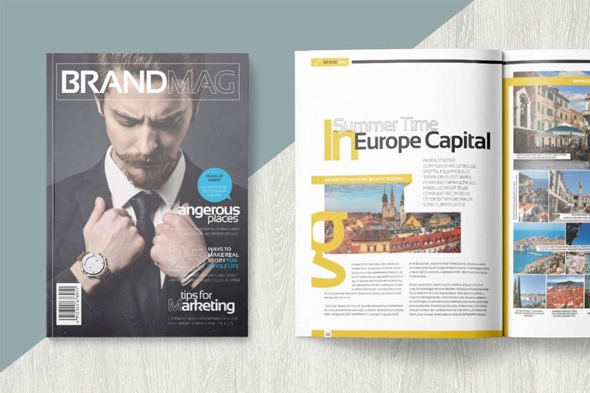 Magazine template on Envato Elements