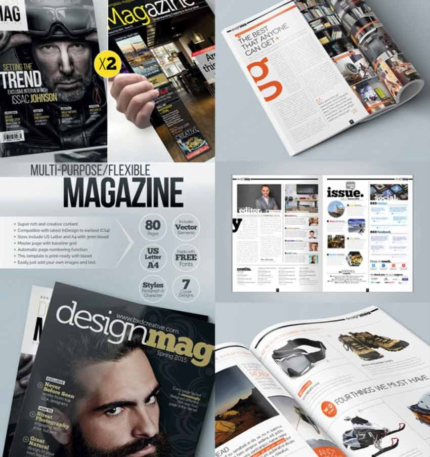 Magazine Template Bundle - InDesign Layout V3