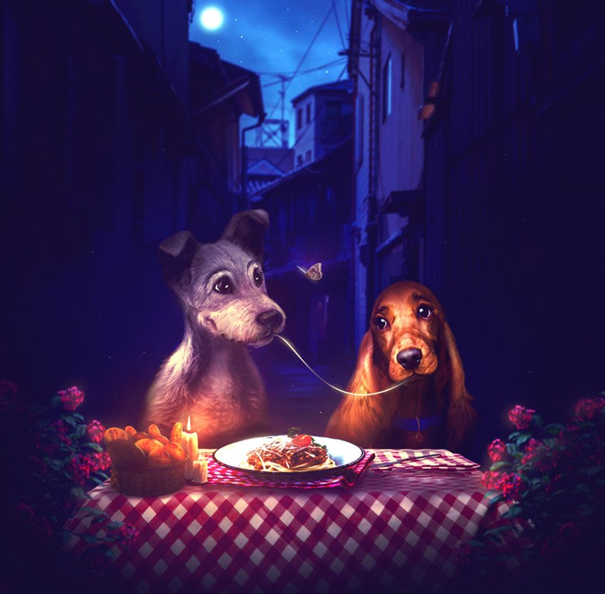 Lady and the Tramp by Melody Nieves