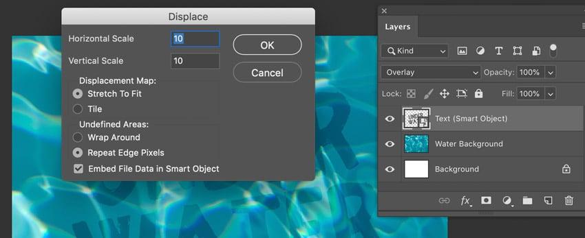 Displace Pop Up Dialog Box