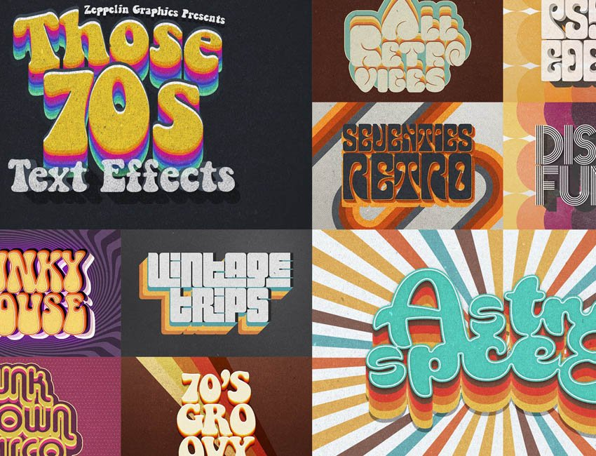 70s Text Effects