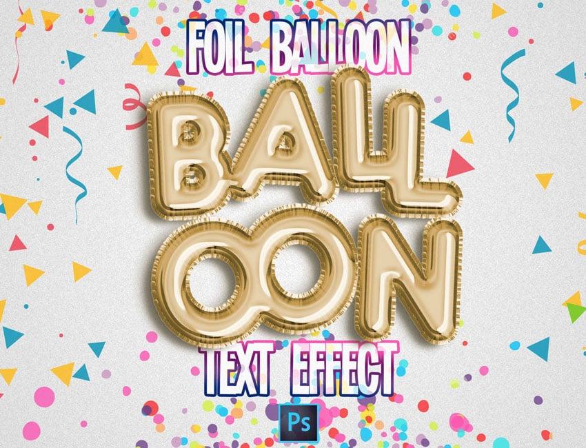Balloon Text Effect
