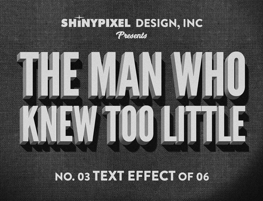 Movie Title Text Effect Photoshop