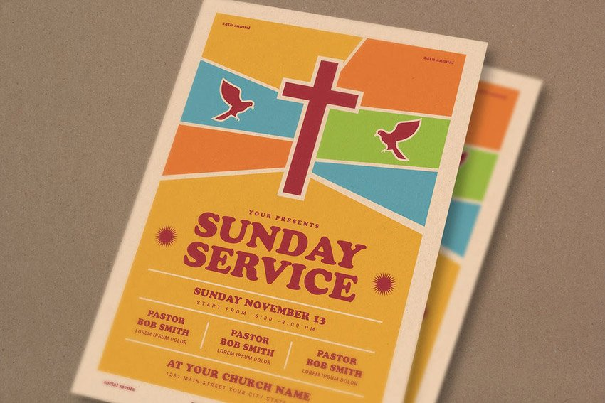 Sunday Service Event Flyer
