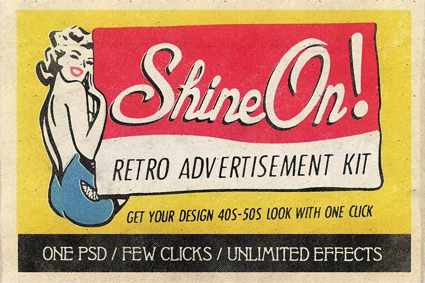 Retro Advertisement Kit