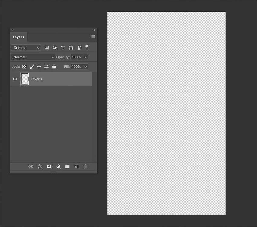 One transparent layer