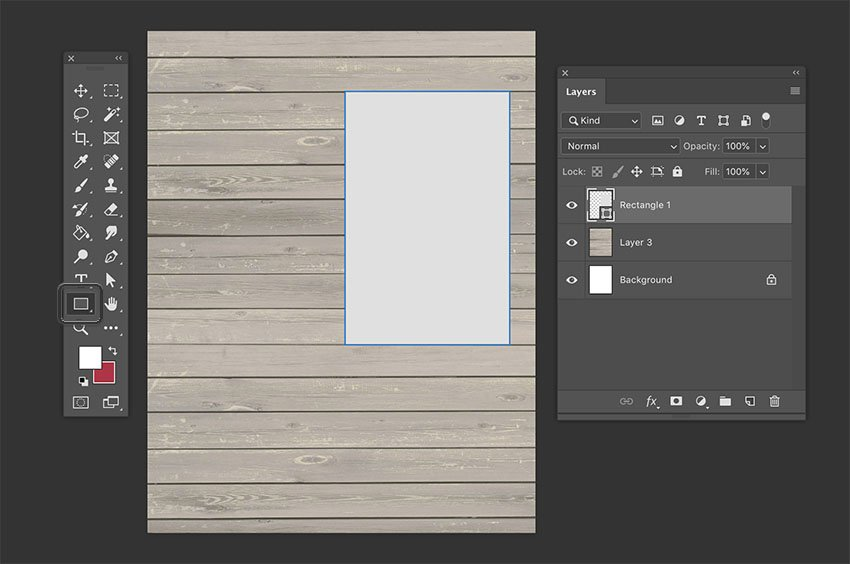 Scrapbook Page Layouts Placing a Rectangle