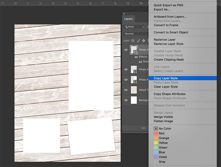 Copying a Layer Style