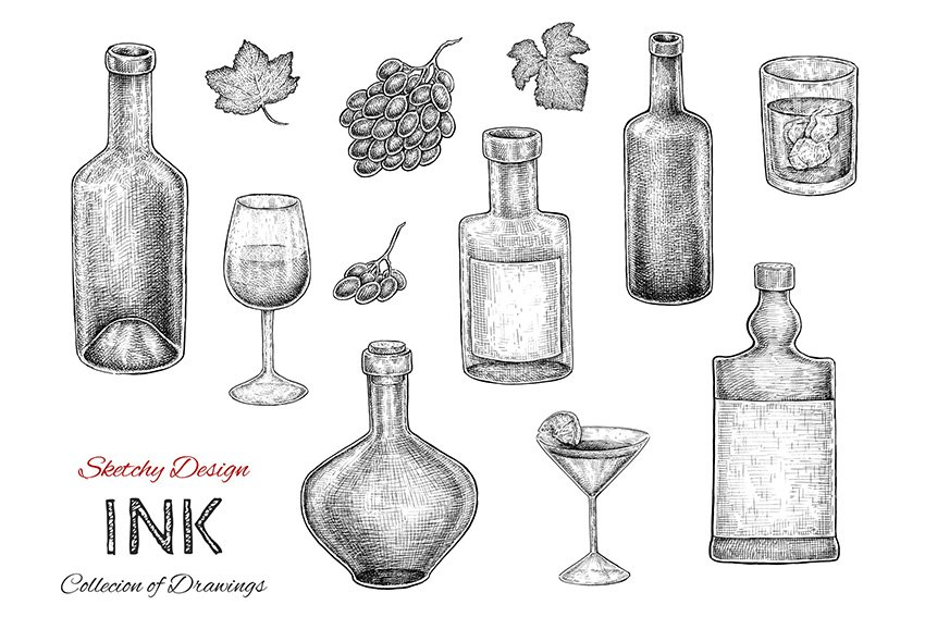 Bottles Set by Eugenia Hauss