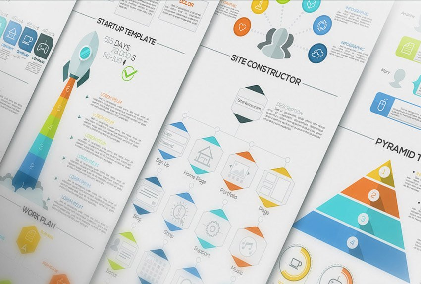 Pure Flat Infographics by Andrew_Kras