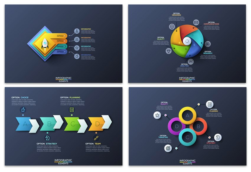 Pure Shape Infographics by Andrew_Kras