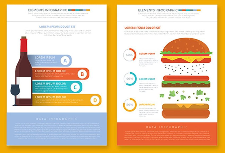 Food and Drink Infographics by Phongpat