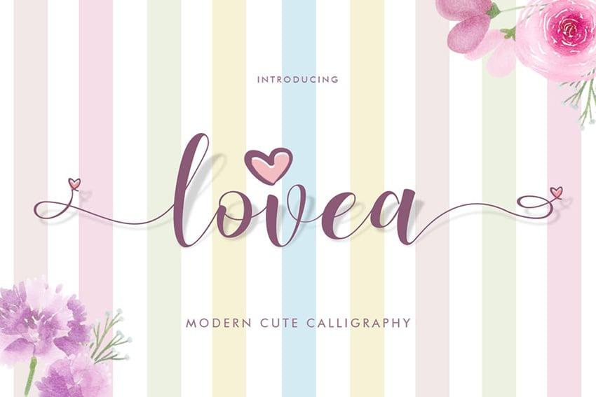 Lovea Script Font by Khurasan Studio