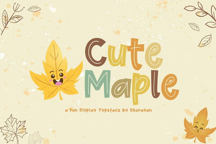 Cute Maple Font by Khurasan Studio
