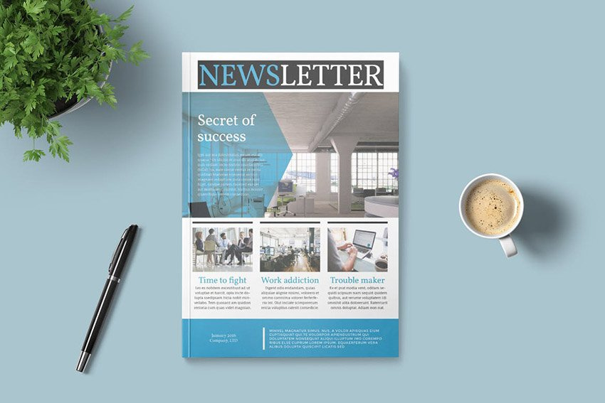 Newsletter Layout Design Template