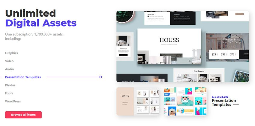 Envato Elements Unlimited Digital Assets