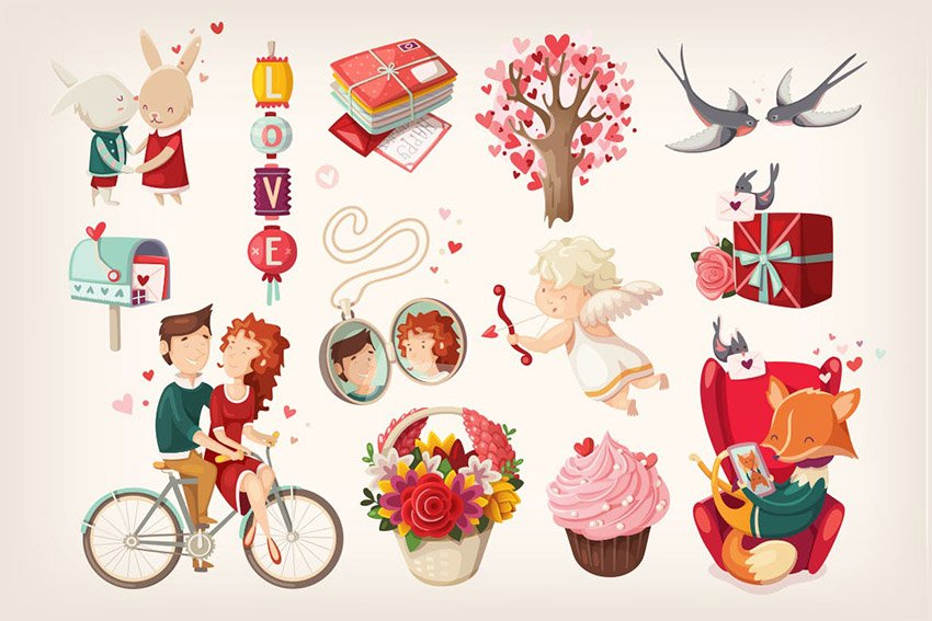 Valentines Day Illustrations by moonery