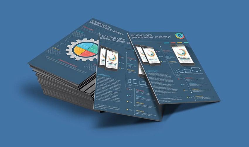 17 Page Infographic Design on Dark Background