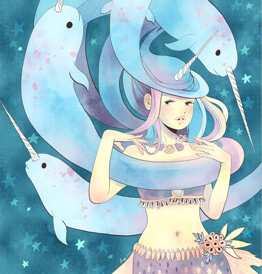 Narwhal Queen by Amy Stoddard
