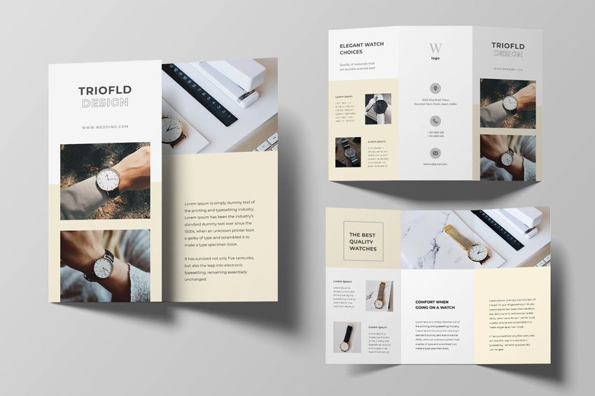 Watch Trifold Template Brochure