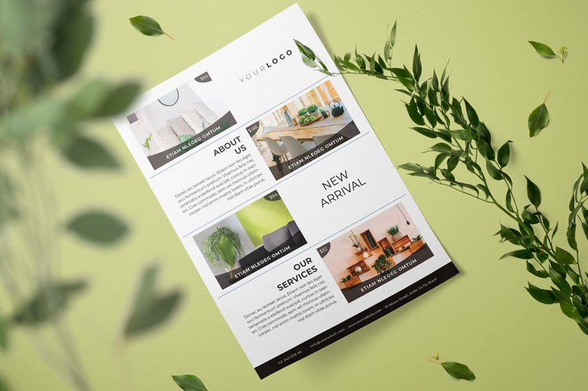 Furniture Flyer Template Design