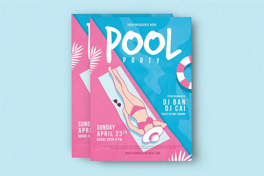 Pool Party Event Flyer