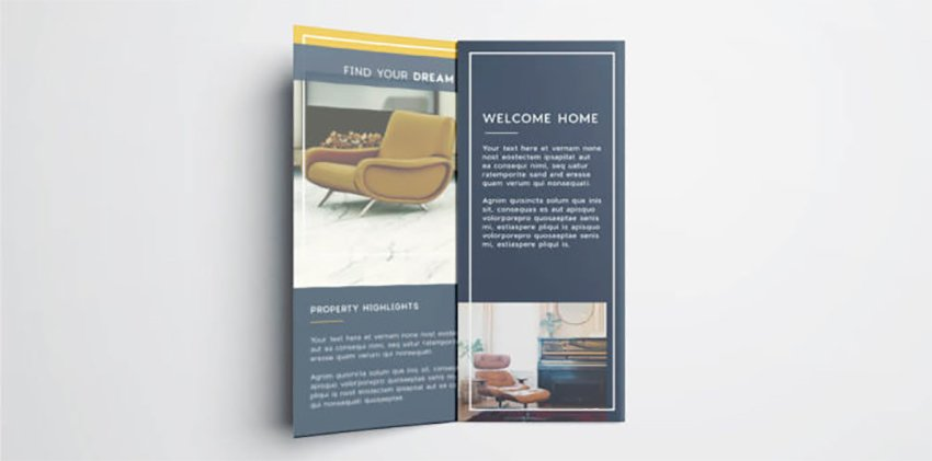 Folded Real Estate Brochure Free