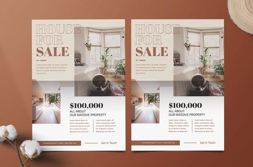 Real estate design flyer