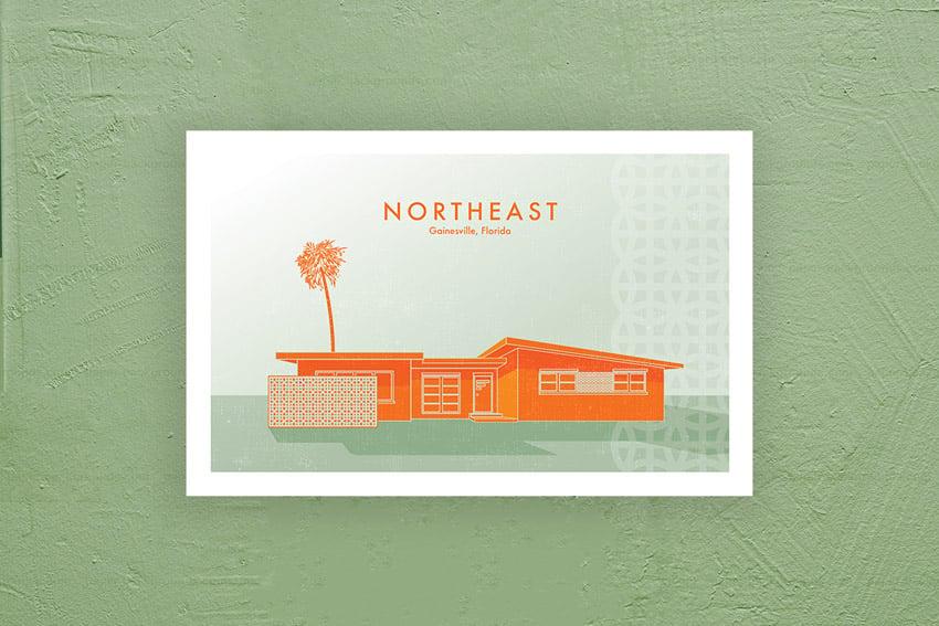 Northeast poster design copyright 2020 Michael McAleer