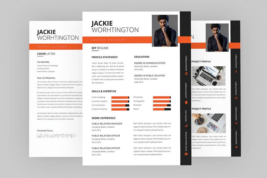 Designer Resume InDesign Template
