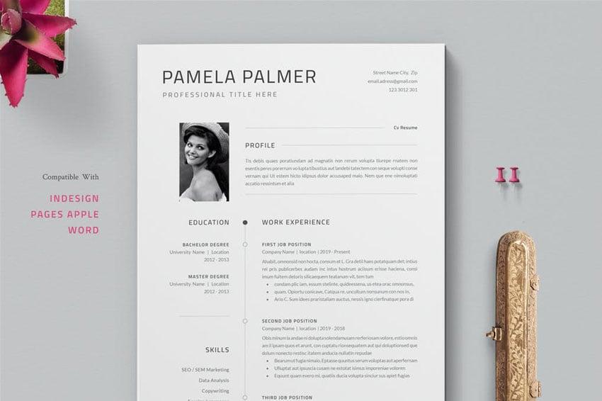 InDesign CV Resume Template Design