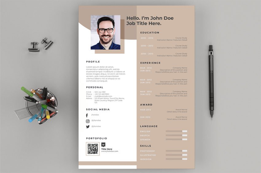 Resume  CV Layout and Cover Letter