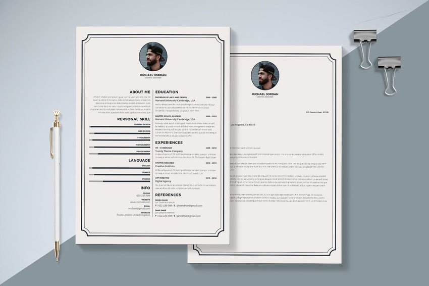 InDesign Resume  Cover Letter