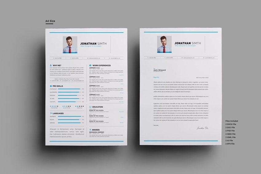 InDesign Resume Template CV