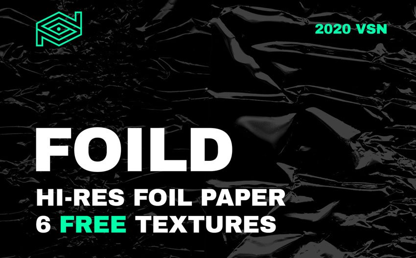 6 Free Foil Paper Texture Overlays