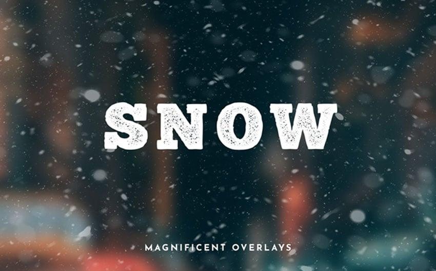 20 Free Snow Photo Overlays