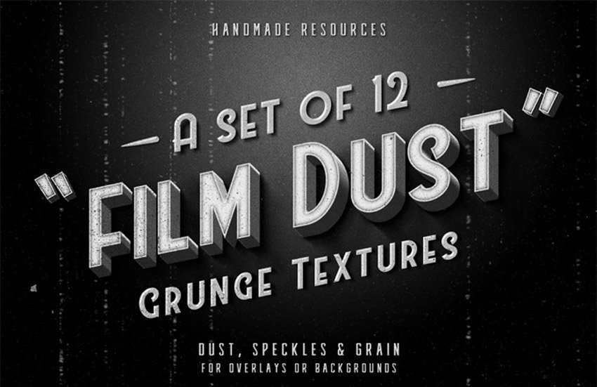 12 Free Film Dust Grunge Textures for Overlays