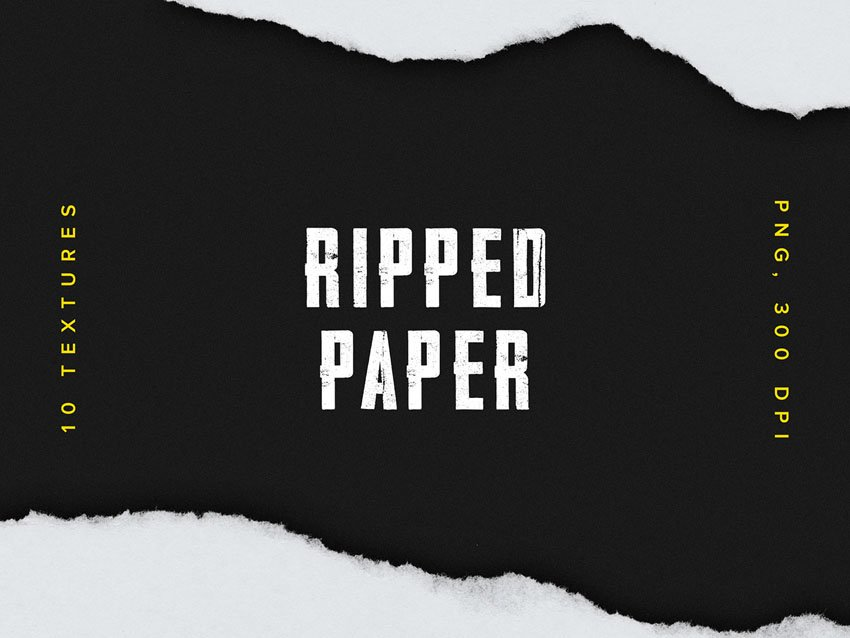 10 Free Ripped Paper Textures