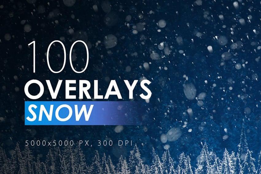 100 Snow Overlays for Adobe Photoshop