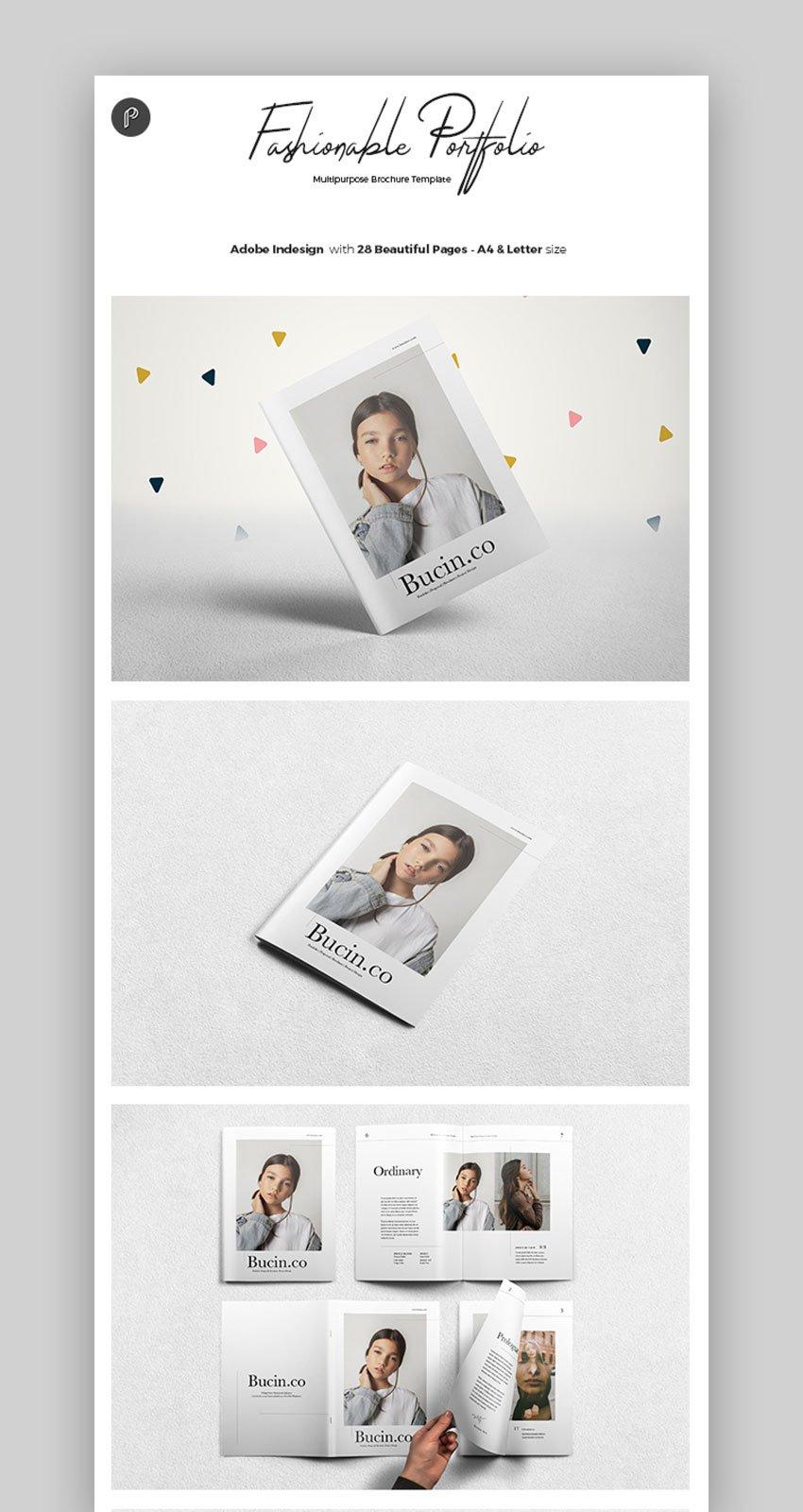 Clean Portrait Multipurpose InDesign Template