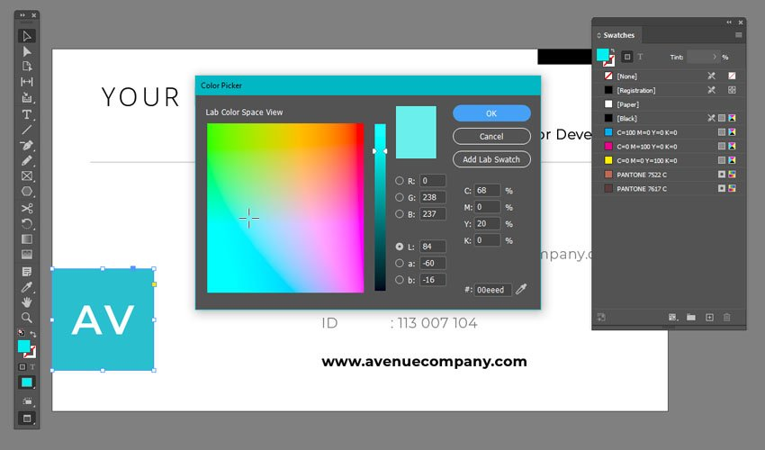 Colors in Adobe InDesign