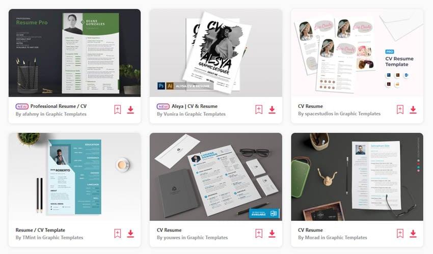 Graphic Design Resume Template CV